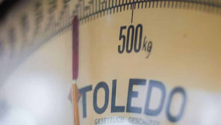 scale showing weight
